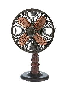 DecoBREEZE Oscillating Table Fan 3 Speed Air Circulator Fan, 10 In, Kipling