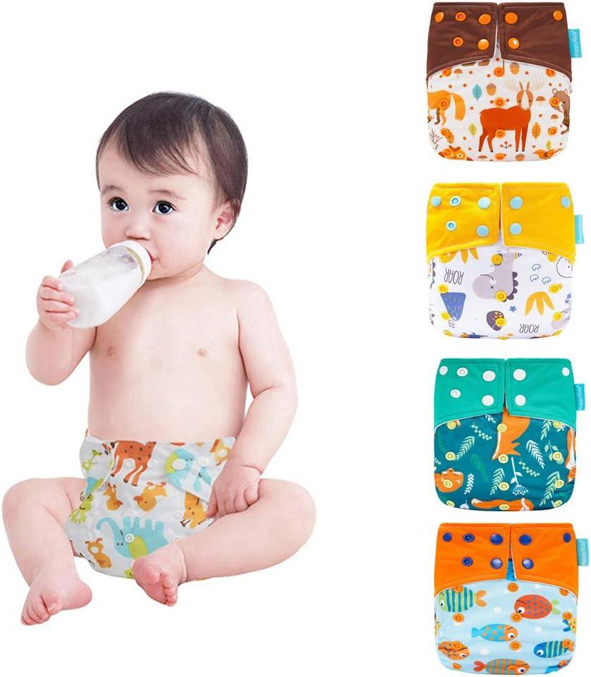 R/ésistant aux odeurs HahaGo Couches lavables pour b/éb/é Couches r/éutilisables pour b/éb/é Ins/érez une couche de poche tout-en-un pour la plupart des b/éb/és et des tout-petits
