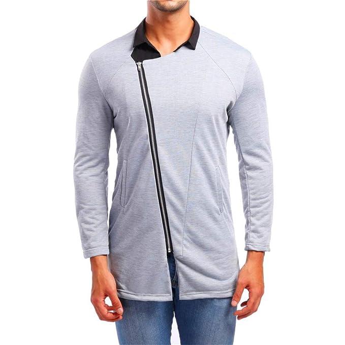 Yvelands Camisetas Grandes y Altas, Camisas para Hombre Slim Fit Personalidad Casual Blusa de Manga