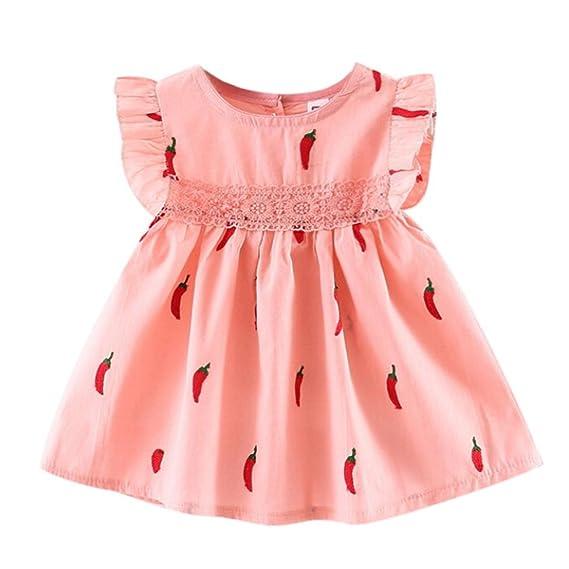 720cf6903 Ropa Bebe Niña Verano 2018 K-youth® Ropa Bebe Recien Nacido Niña Vestido  Bebe