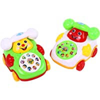 FnieYxiu Toys, Baby Toy Cartoon Smile Pull Wire Phone Educational Developmental Kids Gift Game