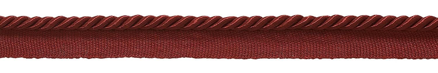 Small 3/16' Basic Trim Lip Cord (Cherry Red), Sold by The Yard , Style# 0316S Color: CHERRY RED -E13 DecoPro