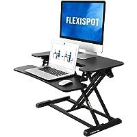 FLEXISPOT Standing Desk Converter 30 inch | Height Adjustable Stand Up Desk Riser, Black Home Office Desk Workstation…