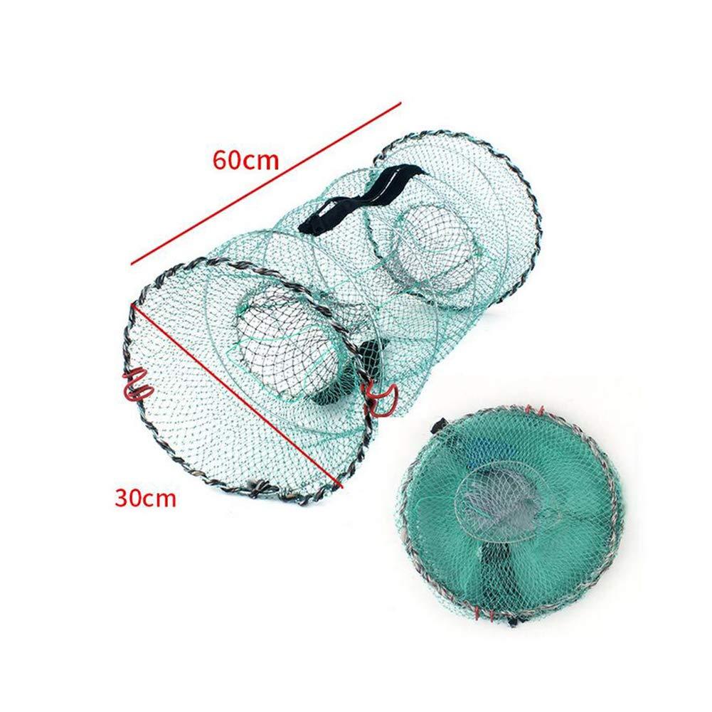 P/êche Pli/é Portable Net Fermeture /éclair Crevettes Net Carpe Langouste Crabe Baitcast Mesh Pi/ège Pli/é Accessoires de p/êche 1pc