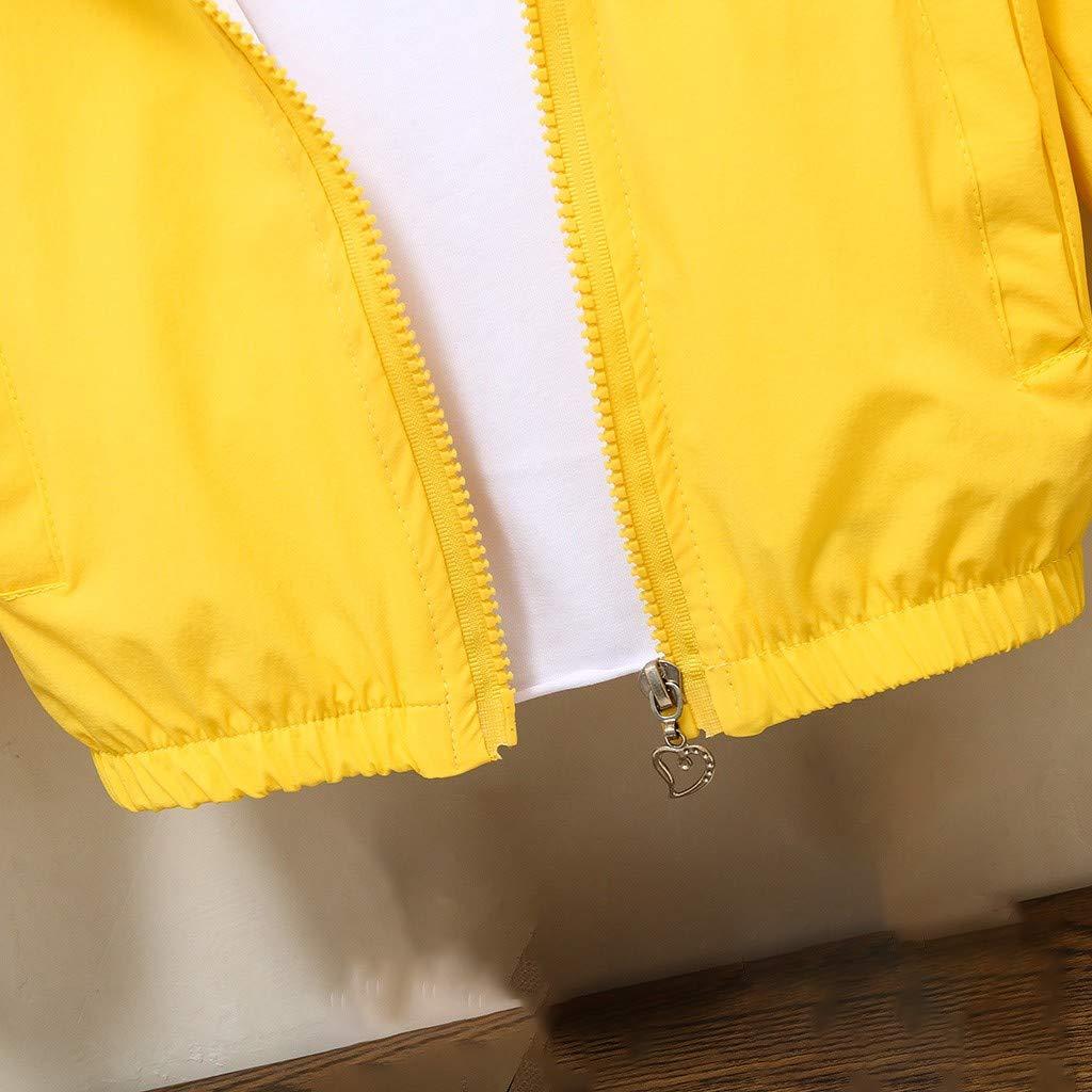 TM Little Kids Spring Coat,Jchen Kids Baby Girls Boys Cute Cartoon Cloud Hooded Zipper Coat Autumn Jacket for 0-6 Yrs