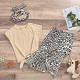 Kids Little Girls Leopard Outfits Yellow Crop Top