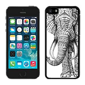 linJUN FENGDiy TPU Phone Cases for iphone 5/5s Aztec Elephant Best Black Soft Skin Cover Mobile Phone Accessories