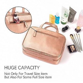 Amazon.com: Neceser colgante de oro rosa, grande, versátil ...