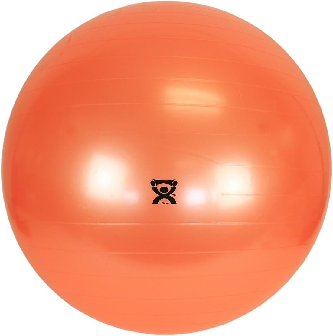 "Cando 30-1800 Blue Non-Slip PVC Vinyl Inflatable Exercise Ball, 12"" Diameter, 300 lbs Weight Capacity"