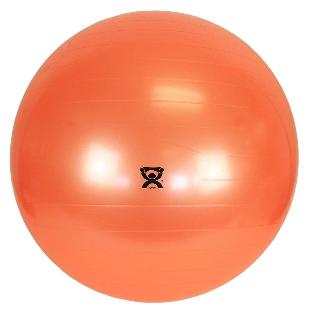 CanDo Non-Slip Vinyl Inflatable Exercise Ball, Orange, 47.3''