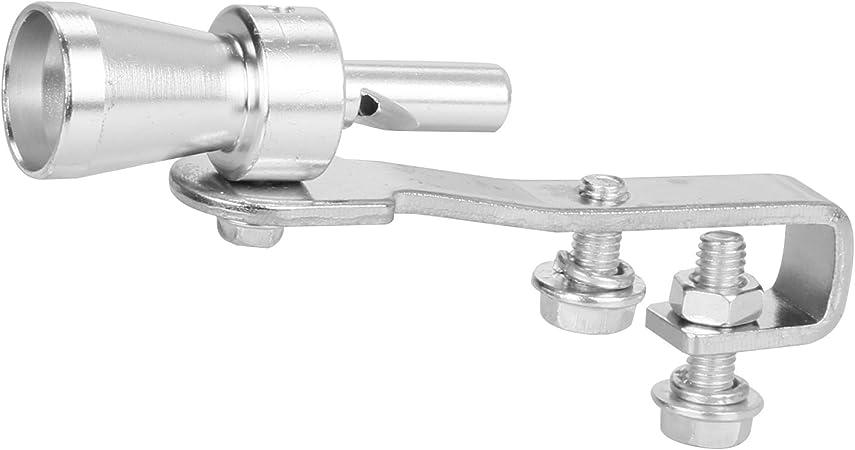 KKmoon Turbo Sound Whistle Exhaust Exhaust Valve Aluminium Silver 11 x 3 cm L