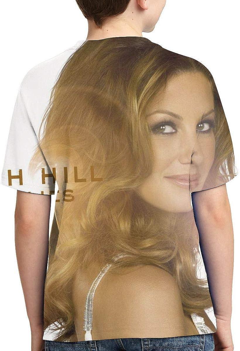 BowersJ Kids Faith Hill Fireflies Design 3D Printed Short Sleeve T-Shirts for Girls /& Boys Black