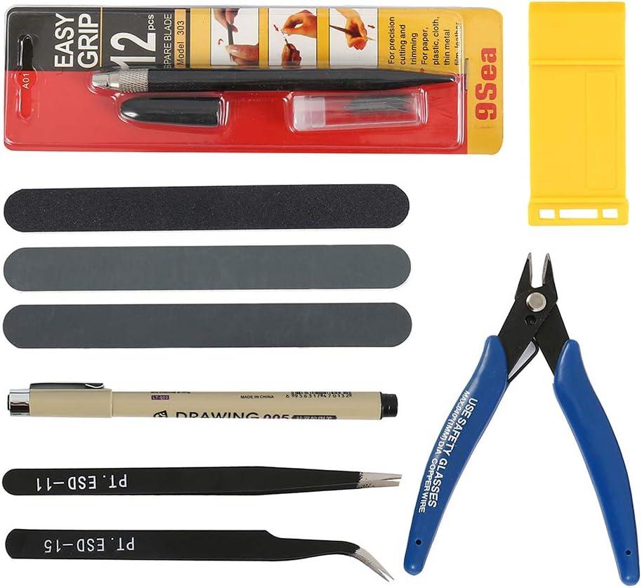 7PCS Modeler Basic Tools Model Gundam Building Craft Kit for Car Repairing and Fixing Assemble