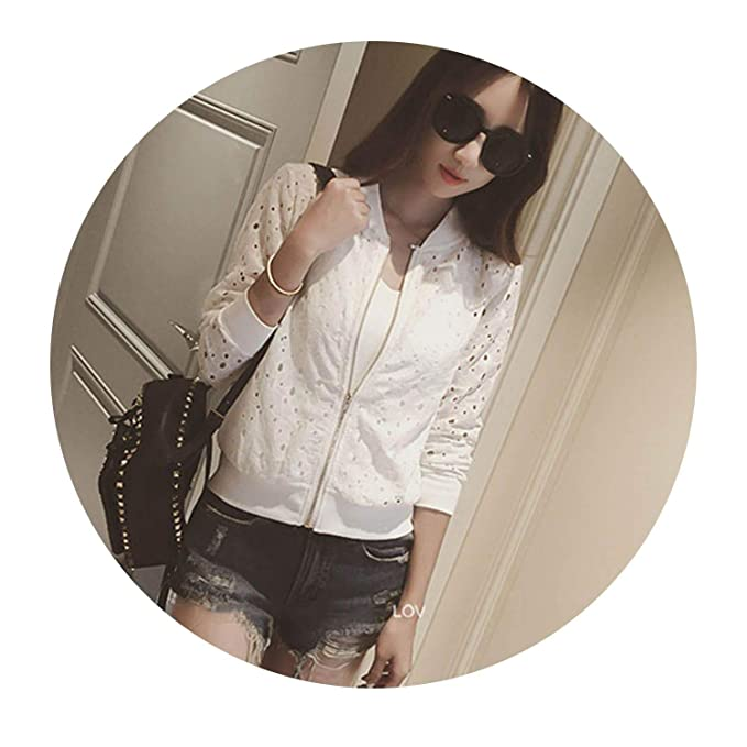 Pretty-sexy-toys Lace Hollow Out Jackets Casual Slime Women ...