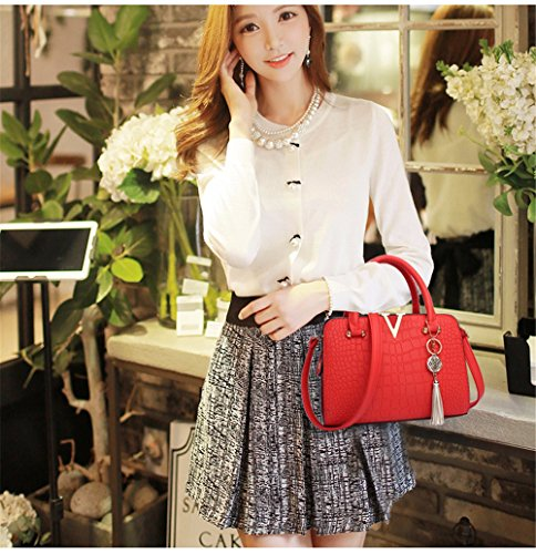 Bag de Bolso Simple Negro rojo Mujer de Crossbody para Bolso Mano CCZUIML Mano FgqdFw