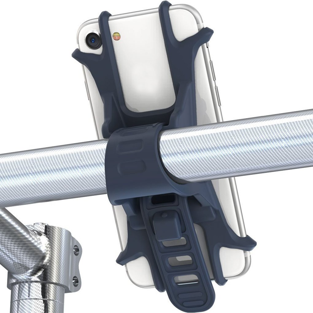 FloralLive Antiurto Anti-Shake Bike Silicone Phone Holder Regolabile Supporto della Bicicletta Staffa per 4-6 Smartphone