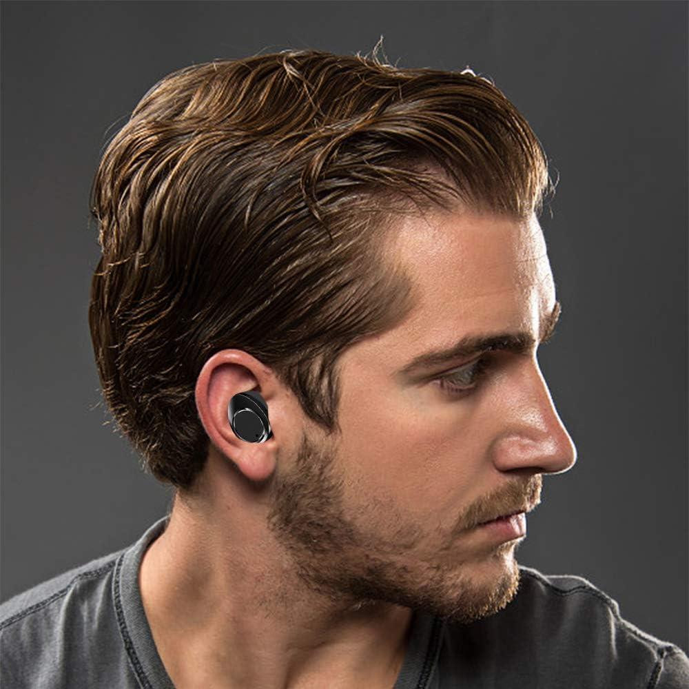 LAMA Bluetooth Kopfh/örer 5.0 Wasserdicht Touch Earbuds In Ear Sport Headset Wireless Ohrh/örer mit Ladek/ästchen Mikrofon f/ür Windows iOS Android iPhone Samsung Huawei Moto HTC Sony usw Schwarz