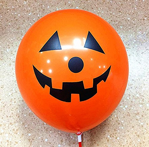 Halloween Balloons, 100 Pack 12 Inches Ultra Thickness Pumpkin Latex Balloons for Happy Halloween's Day Party Decoration (Pumpkin) -