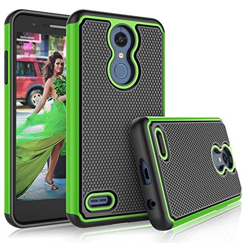 Tekcoo LG K30 / LG Harmony 2 Case, LG K30 Plus/LG Phoenix Plus/LG Premier Pro LTE Cute Case, [Tmajor] Shock Absorbing [Green] Rubber Silicone Plastic Scratch Resistant Sturdy Grip Hard Cases Cover