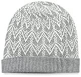 Sofia Cashmere Women's Fair Isle Hat, Grey