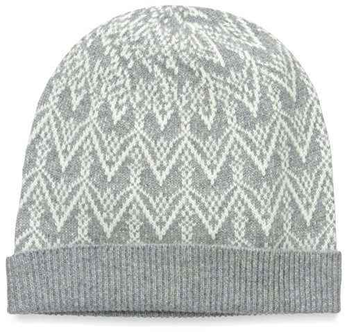 Sofia Cashmere Women's Fair Isle Hat, Grey by Sofia Cashmere