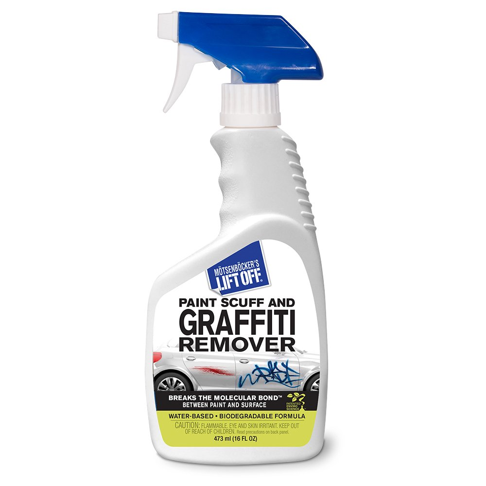 MOTSENBOCKER LIFT-OFF 45406 Paint Scuff and Graffiti Remover 16-Ounce Bottle-Pack of 1, Fluid