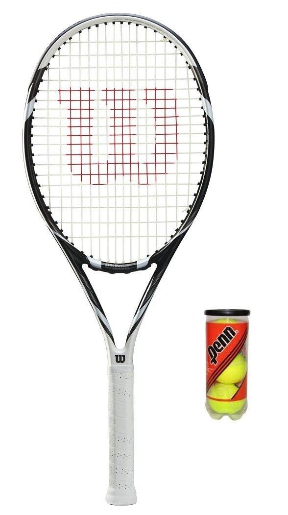 Wilson Six Two BLX - Raqueta de tenis + 3 Pelotas de tenis RRP £120: Amazon.es: Deportes y aire libre
