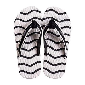 Rayas Playa Chanclas De Zapatos Moda Zapatillas Huyp Blancas nX0wO8Pk