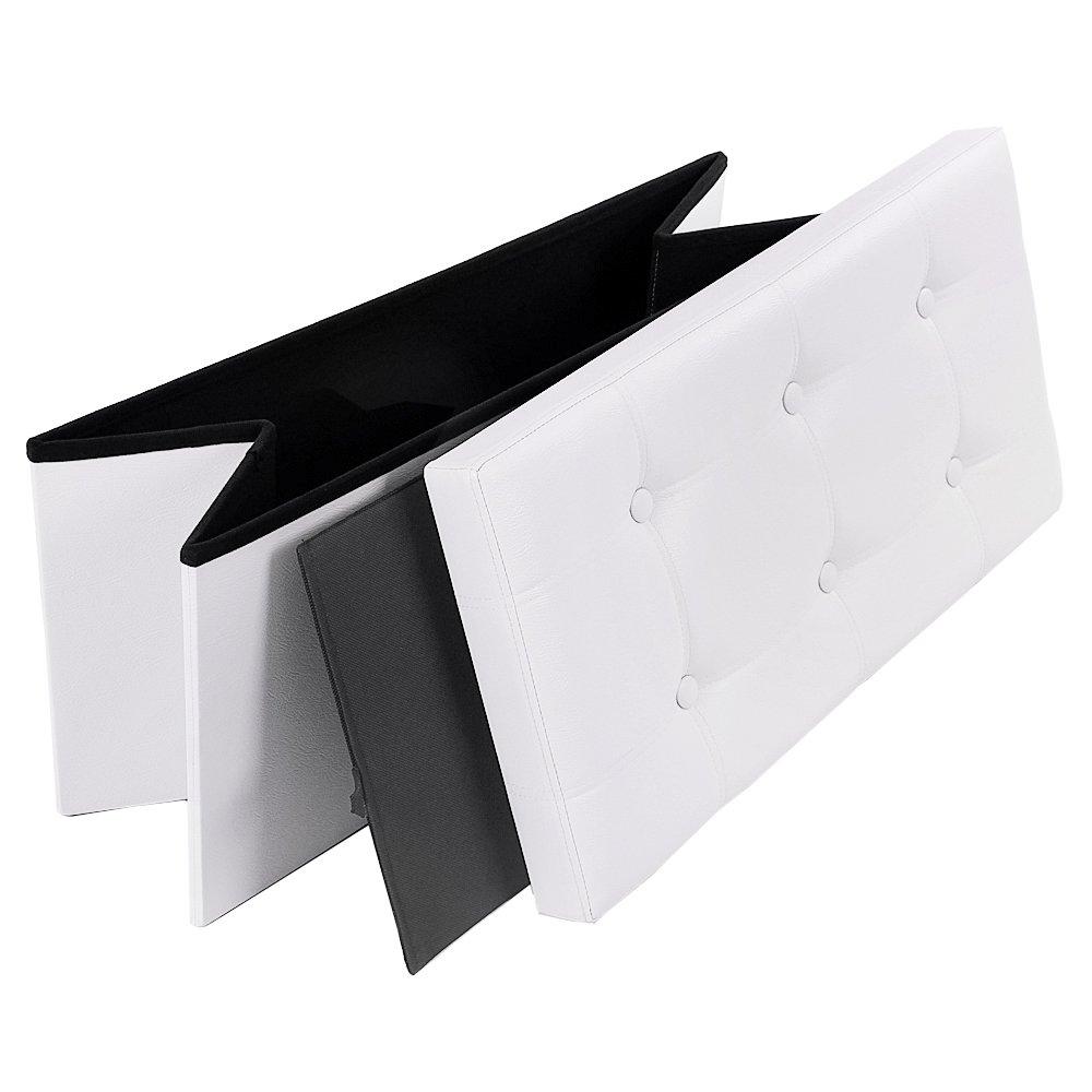 Songmics 76 x 38 x 38 cm pouf coffre de rangement pliable ...