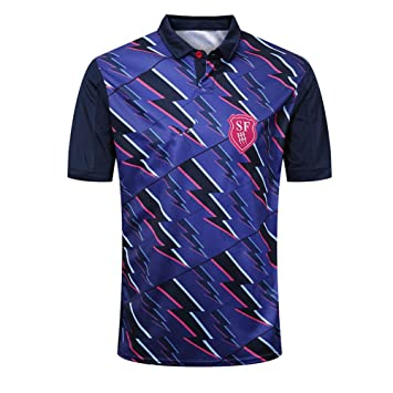 AFDLT Rugby Jersey,18-19 Paris Home,Casual Redondo Respirable ...