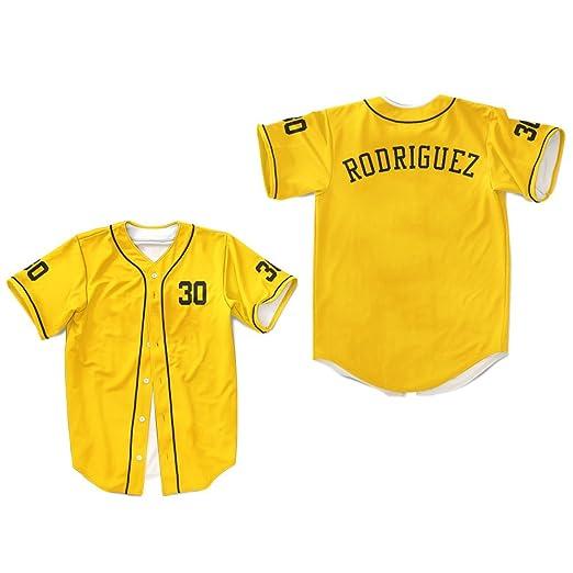 borizcustoms Mike Vitar Benny  The Jet  Rodriguez 30 Yellow Baseball Jersey  The Sandlot ( 86db0444f
