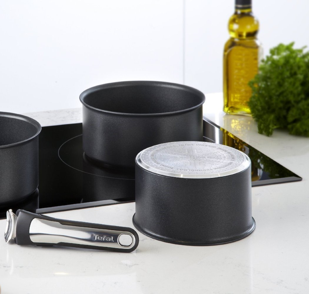 Tefal Ingenio Talent: 16 + 20 Cm con Mango Set de Cazos, Aluminio ...