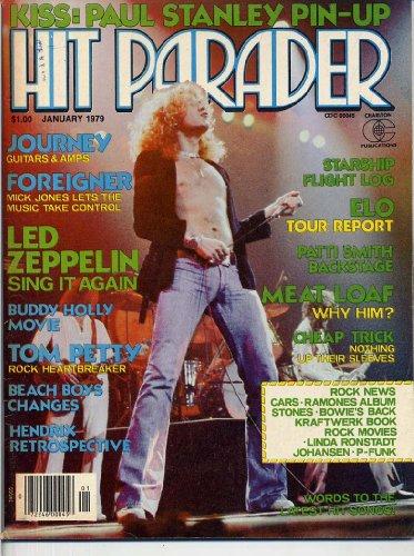 Hit Parader Magazine January 1979 LED ZEPPELIN Queen KISS CENTERFOLD Pink Floyd ELO Foreigner JOURNEY (Hit Parader Magazine)