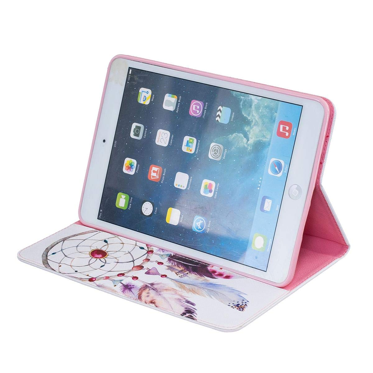 Funda para iPad Mini 1 2 3 Carcasa Silicona Suave Goma Gel PU Cuero con Soporte Funci/ón Hola Panda
