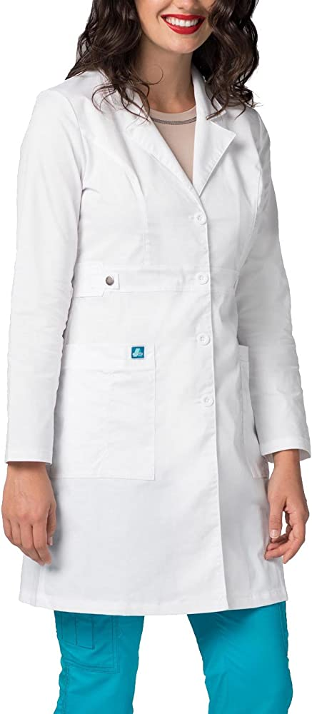 Adar Pop Bata de Laboratorio para Mujer - Bata de Laboratorio Stretch de 91.5 cm - 3304 - White - XXS: Amazon.es: Ropa y accesorios