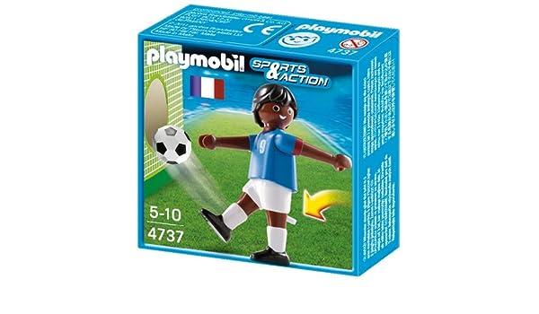 Playmobil Fútbol - Fútbol  jugador Francia II (4737)  Amazon.es  Juguetes y  juegos 0952d3eb819