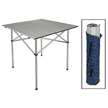 Aluminio camping mesa plegable Roll mesa Jardín Mesa de ...