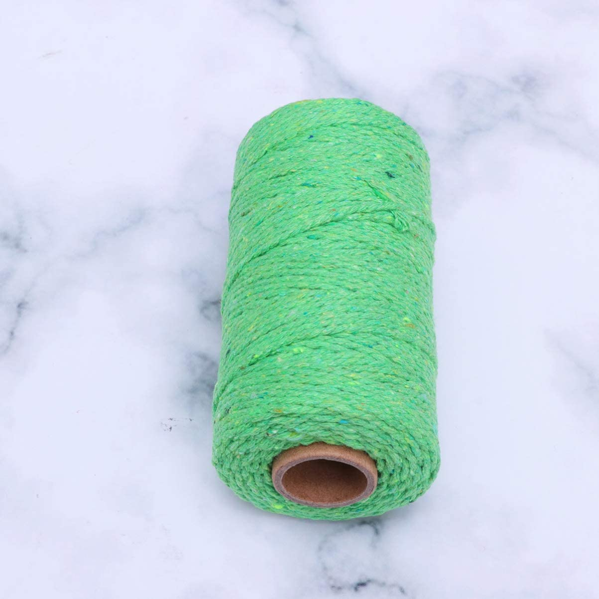 HEALLILY Corde en Macram/é de 2 Mm en Coton Naturel en Macram/é Cordon Bricolage pour Suspension de Plantes Suspendues Artisanat Fabrication de Tricot