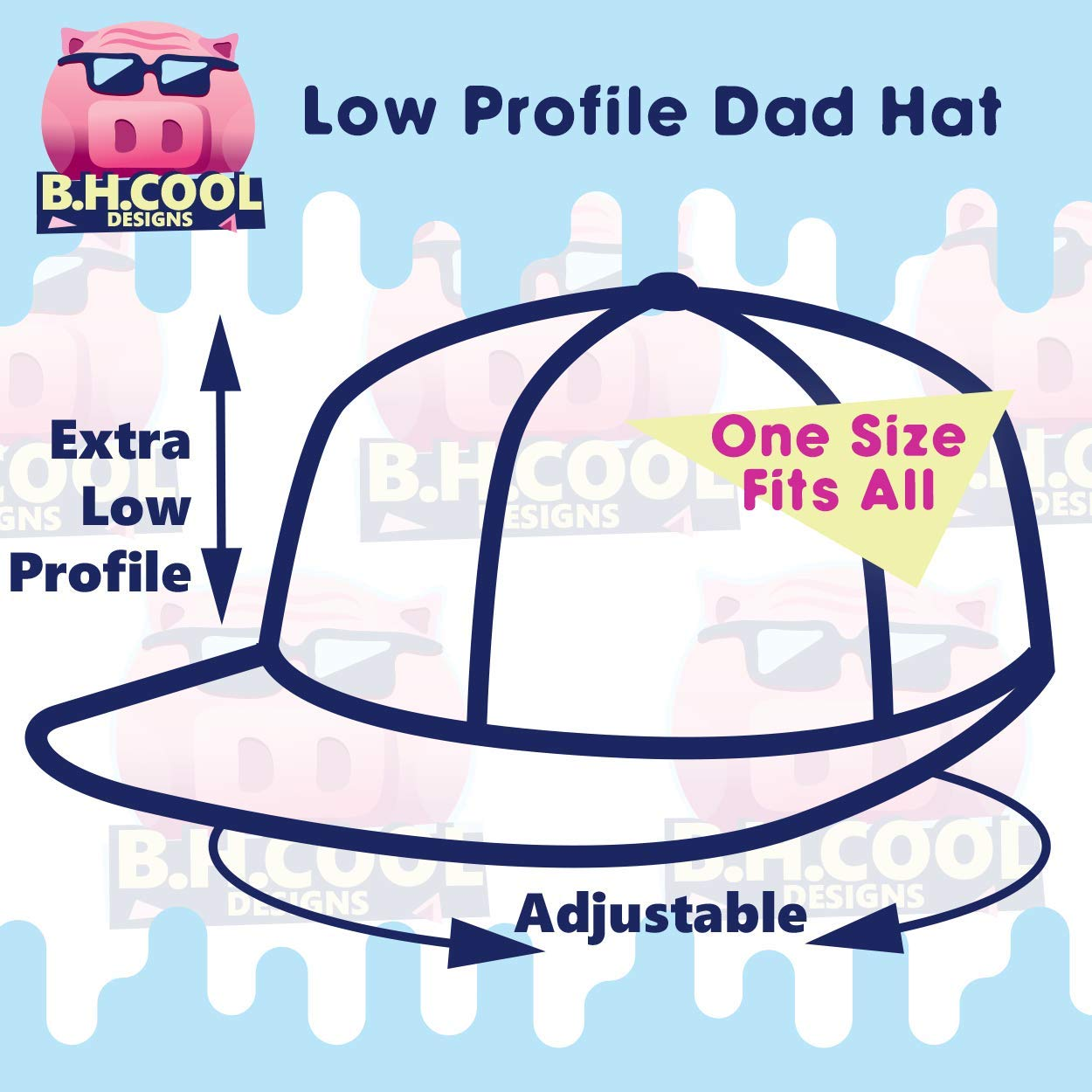 BH Cool Designs #Happiness Comfortable Dad Hat Baseball Cap