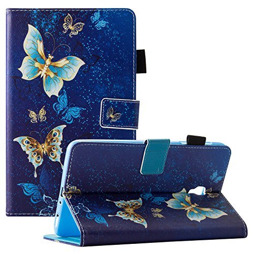 Galaxy Tab A 8.0 2017 Case, Dteck Protective PU Leather Smart Wallet Case with [Auto Sleep/Wake Feature] Pretty Flip Folio Stand Cover for Samsung Galaxy Tab A 8 Inch 2017 Release-Gold Butterfly by Dteck