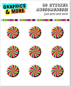 Graphics and More Rainbow Swirl Design Home Button Stickers Fits Apple iPhone 4/4S/5/5C/5S, iPad, iPod Touch - Non-Retail Packaging - Clear