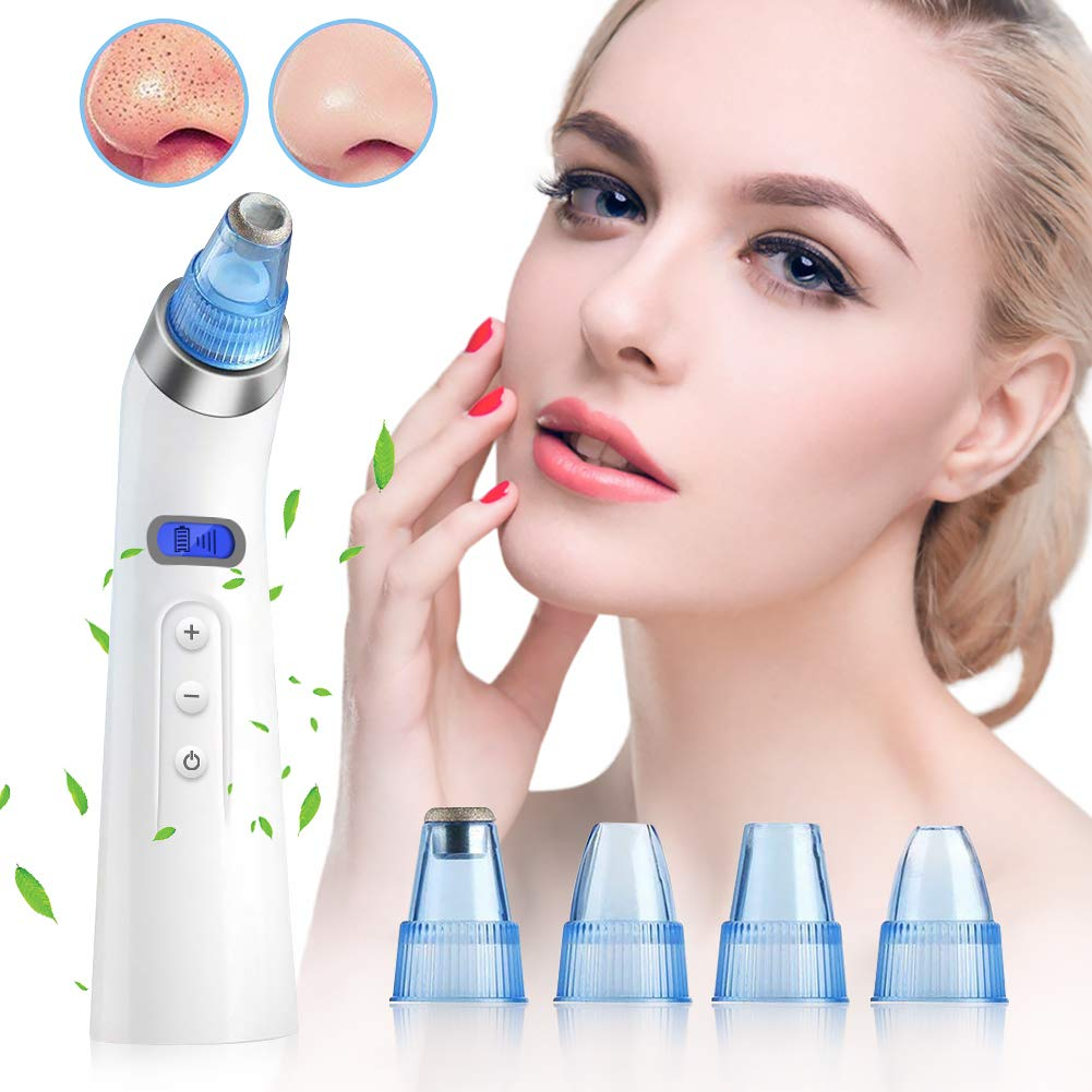 Blackhead Remover, KEYS Blackhead Remover Pore Vacuum Electric Facial Pore Cleaner Vacuum Blackhead Suction Rechargeable for Acne and Facial Pore Clea