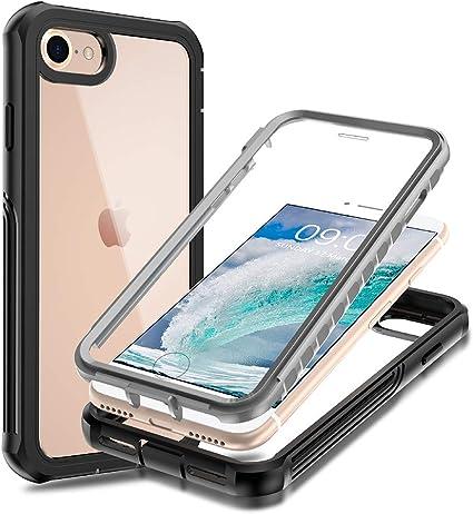 Anyos iPhone SE 2020/iPhone 6/7/8, funda protectora de cuerpo completo delgada cubierta protectora de pantalla integrada a prueba de golpes para Apple ...