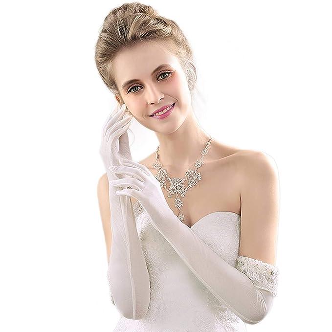 los angeles af88b aaac3 Guanti Da Sposa Guanti Sposa Perle Da Ragazza Matrimonio ...