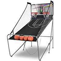 Giantex Foldable Basketball Arcade Game, 8 Game Options, Electronic Double Shot 2 Player w/ 4 Balls and LED Scoring…