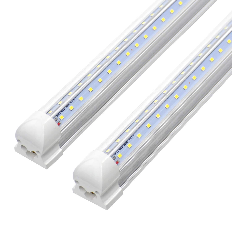 6ft led tube lightdouble side v shape integrated t8 led shop light fixtures6000k 42w 4200 lumens hight output led bulbs clear lens ac85 265v