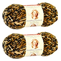 Premier Yarns Deborah Norville Collection Cuddle Fleece Yarn, Cheetah, 2 Pack