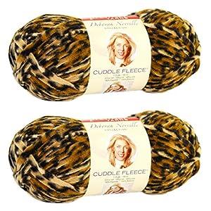 Premier Yarns Deborah Norville Collection Cuddle Fleece Yarn, Cheetah, 2 Pack