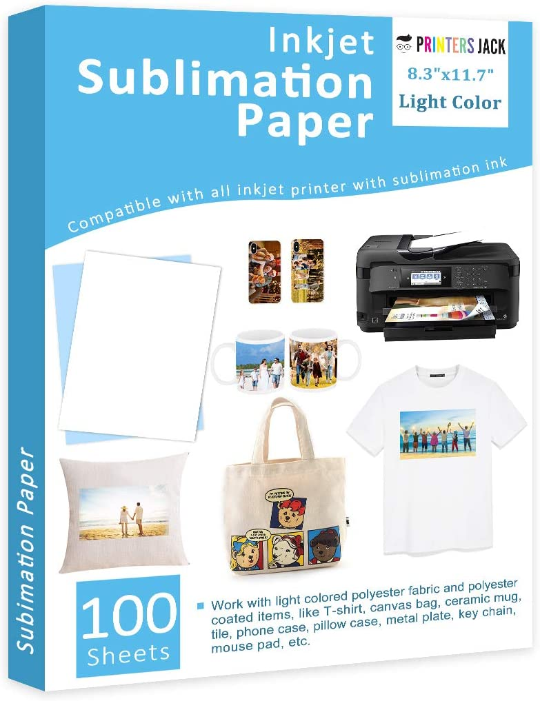 Sublimation Paper Heat Transfer Paper 100 Sheets 8.3