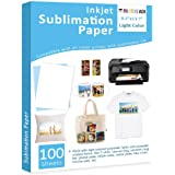 "Sublimation Paper Heat Transfer Paper 100 Sheets 8.3"" x 11.7"" for Any Epson HP Canon Sawgrass Inkjet Printer with…"